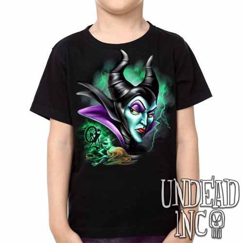 Villains Maleficent Spinning Wheel -  Kids Unisex Girls and Boys T shirt Clothing