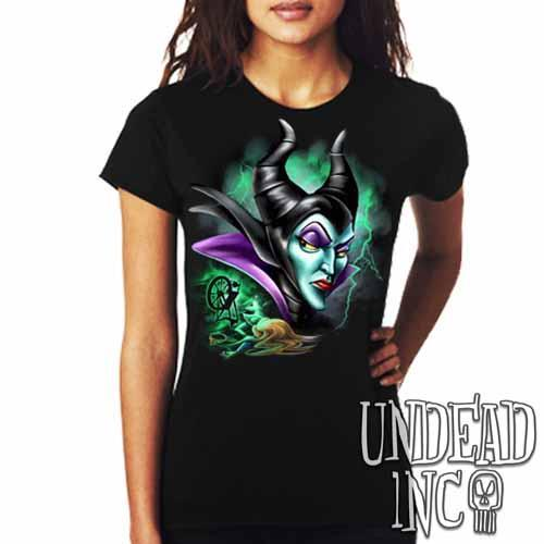 Villains Maleficent Spinning Wheel - Ladies T Shirt