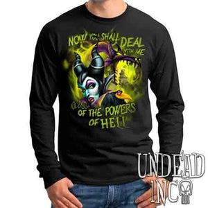 Villains Maleficent - All the Powers of Hell - Mens Long Sleeve Tee