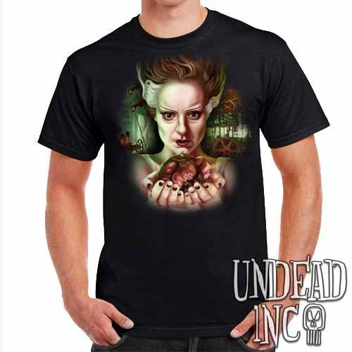 Bride Of Frankenstein Heart - Mens T Shirt - Undead Inc Mens T-shirts,