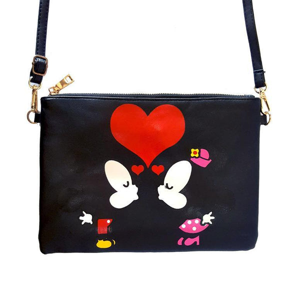 Mickey & Minnie Mouse Kisses Cross Body / Shoulder Bag