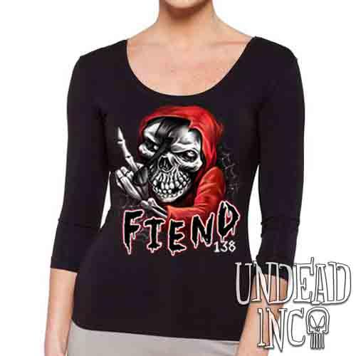 FIEND 138 Misfit  - Ladies 3/4 Long Sleeve Tee