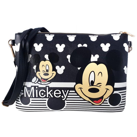 Mickey Mouse Striped Cross Body / Shoulder Messenger Bag