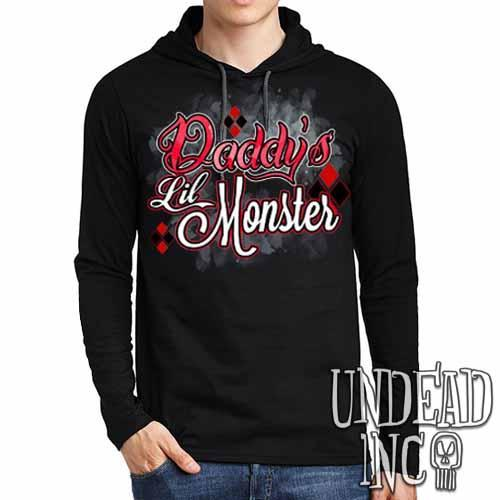 335da5ad9f46 Harley Quinn Daddy s Lil Monster - Mens Long Sleeve Hooded Shirt