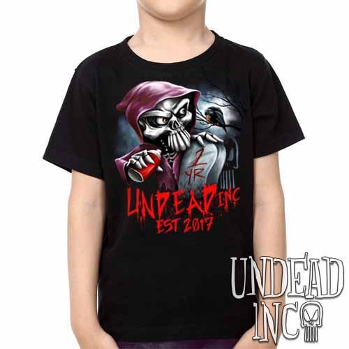 Undead Inc Mortis 1 YR Anniversary LIMITED EDITION -  Kids Unisex Girls and Boys T shirt