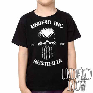 Undead Inc Australia Mortis Skull Rocker -  Kids Unisex Girls and Boys T shirt Clothing