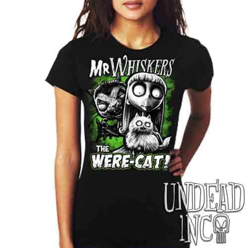 Frankenweenie Were-cat Mr Whiskers & Weird Girl - Ladies T Shirt