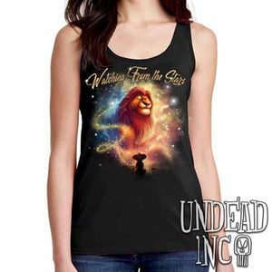 "Lion King Mufasa ""Watching from the Stars"" - Ladies Singlet Tank"