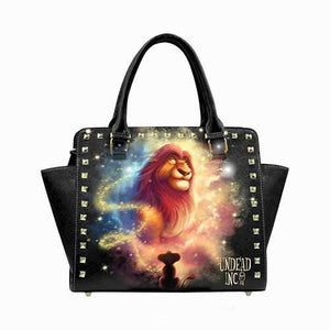 Undead Inc Lion King Watching From The Stars Premium PU Leather Shoulder / Hand Bag