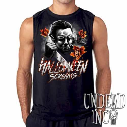 Michael Myers Halloween Screams MUTED VARIANT Mens Sleeveless Shirt
