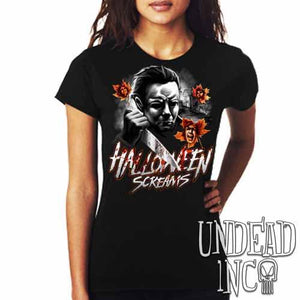 Michael Myers Halloween Screams MUTED VARIANT - Ladies T Shirt