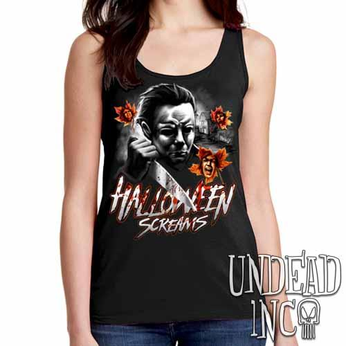 Michael Myers Halloween Screams MUTED VARIANT - Ladies Singlet Tank