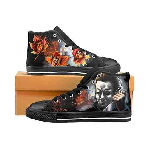 Myers Halloween Screams Men's Classic High Top Canvas Shoes