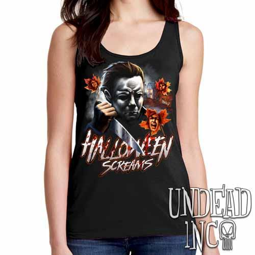 Michael Myers Halloween Screams - Ladies Singlet Tank