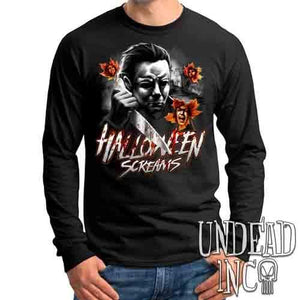 Michael Myers Halloween Screams MUTED Variant - Mens Long Sleeve Tee