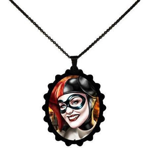 Harley Quinn Portrait - Batman STAINLESS STEEL Necklace - Undead Inc ,