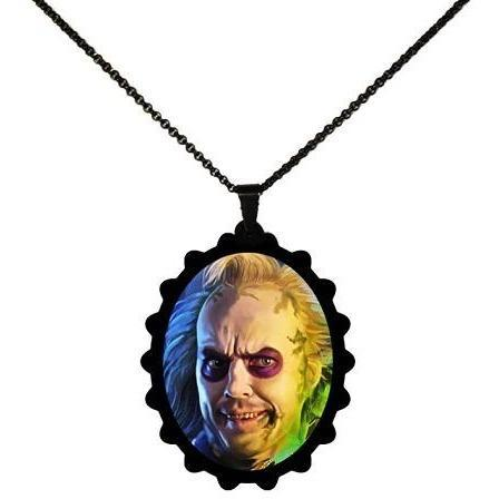 Beetlejuice Portrait STAINLESS STEEL Necklace - Undead Inc ,