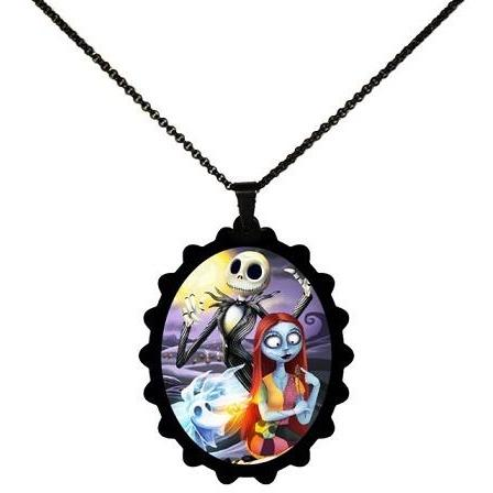 Nightmare Before Christmas Jack Sally & Zero STAINLESS STEEL Necklace