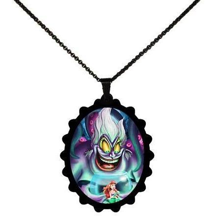 Disney Villains Ursula - The Little Mermaid Ariel STAINLESS STEEL Necklace - Undead Inc ,