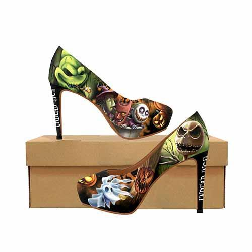 Nightmare Before Christmas Pumpkin King Platform High Heels