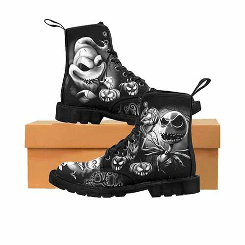Nightmare Before Christmas Pumpkin King Black & Grey Variant MENS Martin Boots