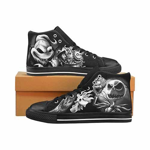 Nightmare Before Christmas Men's Classic High Top Canvas Shoes Men's Canvas Shoes Undead Inc
