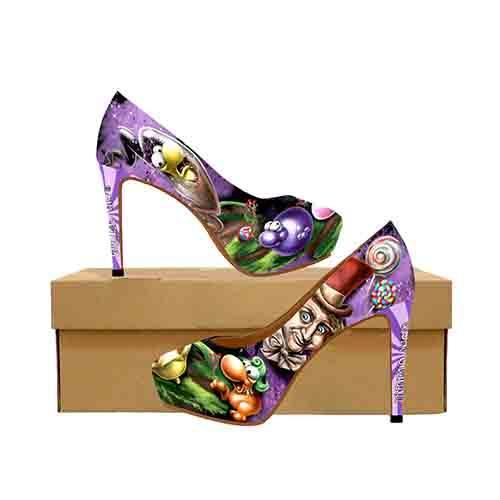 Willy Wonka Nerds Factory Platform High Heels
