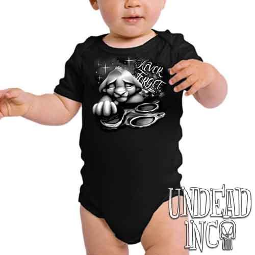 Lion King Simba Never Forget Black & Grey - Infant Onesie Romper