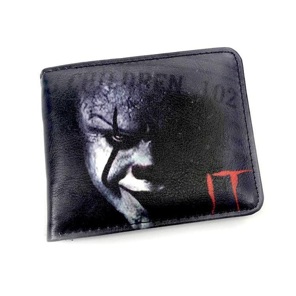 IT Pennywise Clown Pu Leather Bifold Wallet