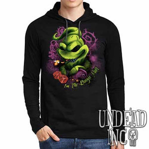Nightmare Before Christmas Oogie Boogie - Mens Long Sleeve Hooded Shirt