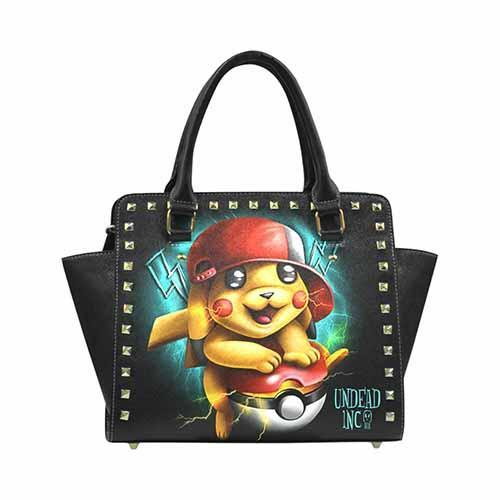 Undead Inc Pikachu Pokemon Premium PU Leather Shoulder / Hand Bag