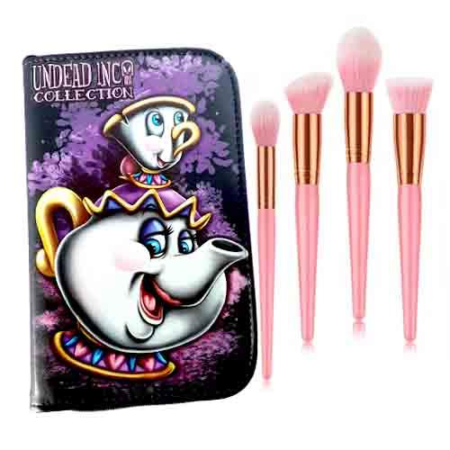 Undead Inc Collection Mrs Potts & Chip Makeup Brush & Case Set
