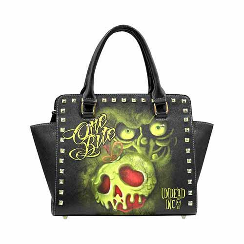 Undead Inc Snow White Poison Apple One Bite Premium PU Leather Shoulder / Hand Bag