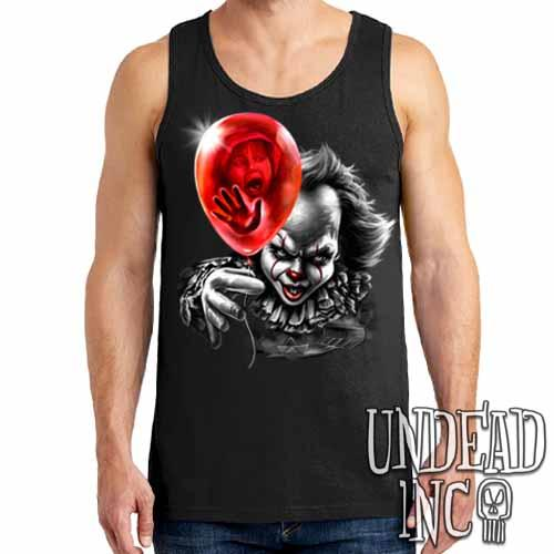 IT Pennywise Balloon - Mens Tank Singlet Black & Grey
