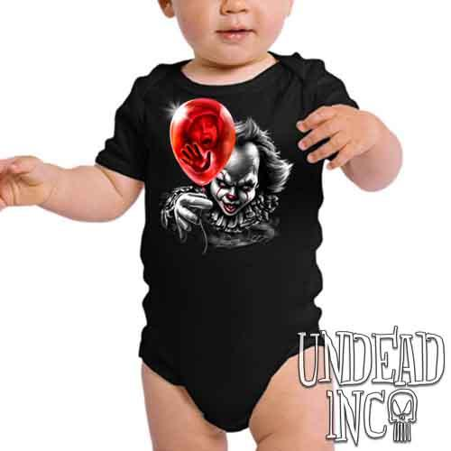 IT Pennywise Balloon Black & Grey - Infant Onesie Romper