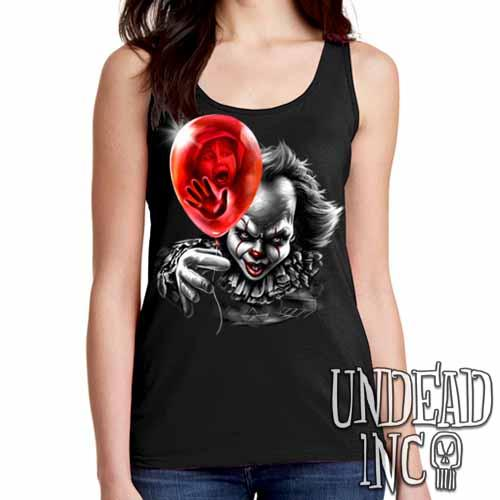 IT Pennywise Balloon Black & Grey - Ladies Singlet Tank