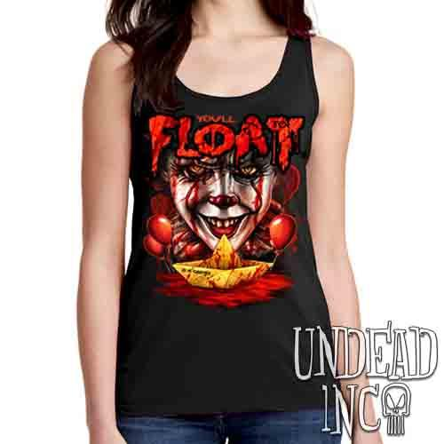 IT Pennywise You'll Float Too - Ladies Singlet Tank