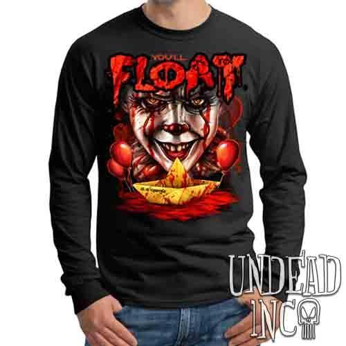 IT Pennywise You'll Float Too  - Mens Long Sleeve Tee