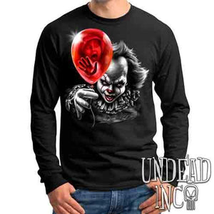 IT Pennywise Balloon Black & Grey - Mens Long Sleeve Tee