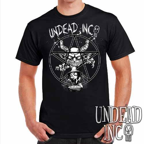 Demon Witch Pentagram Undead Inc - Mens T Shirt - Undead Inc Mens T-shirts,