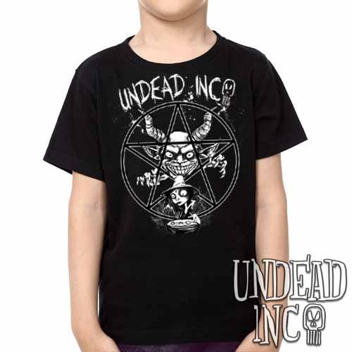 Demon Witch Pentagram Undead Inc -  Kids Unisex Girls and Boys T shirt Clothing - Undead Inc Kids T-shirts,