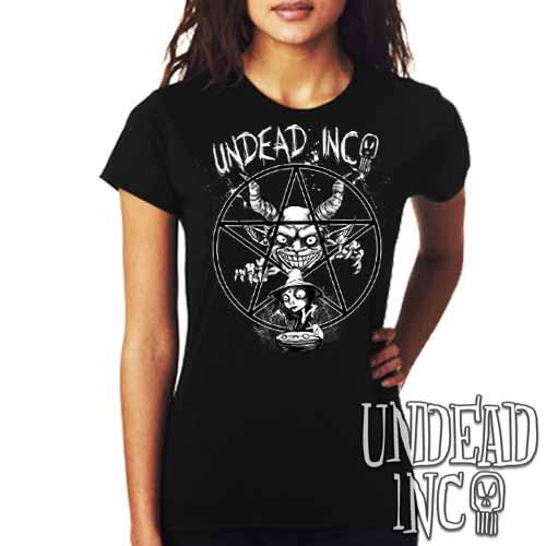 Demon Witch Pentagram Undead Inc - Ladies T Shirt - Undead Inc Ladies T-shirts,