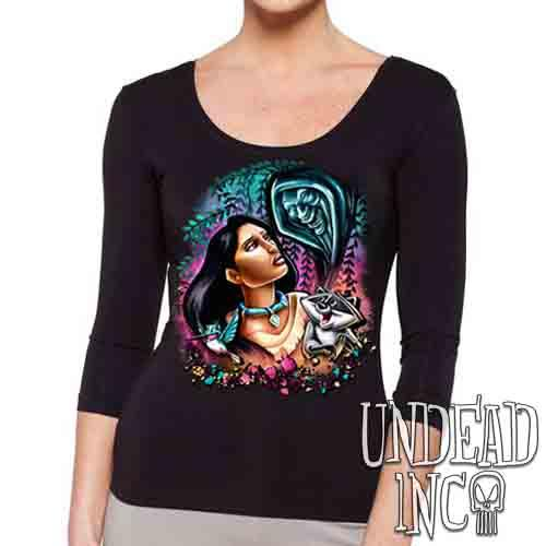 Pocahontas Colors Of The Wind - Ladies 3/4 Long Sleeve Tee