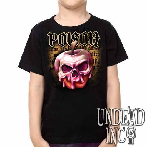 Snow White Villains Poison Apple - Kids Unisex Girls and Boys T shirt Clothing