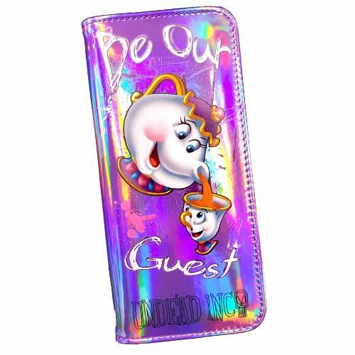 Beauty & The Beast Potts & Chip Undead Inc Hologram Long Line Wallet Purse