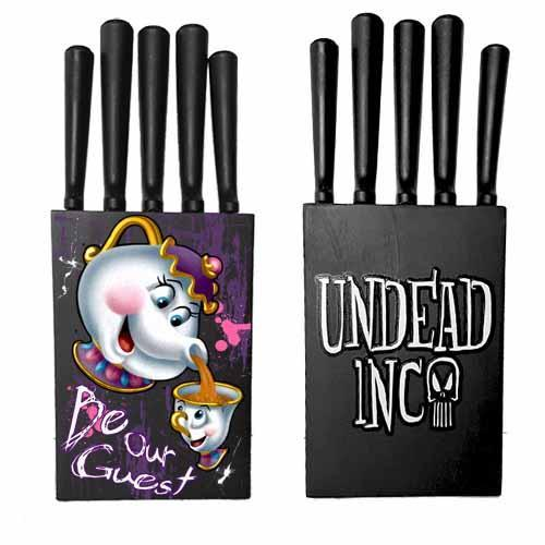 Beauty & The Beast Mrs Potts & Chip Undead Inc Kitchen Knife Set