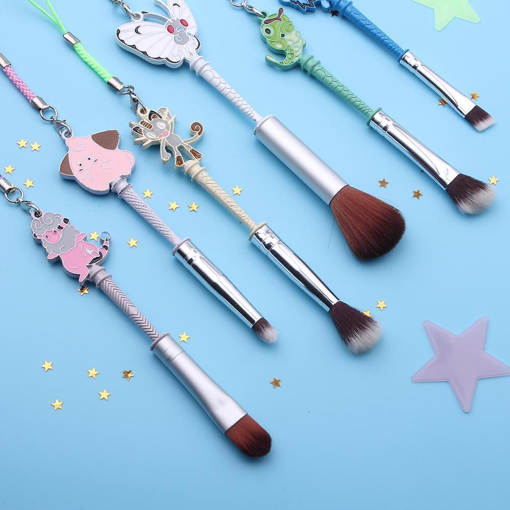 Pokemon Makeup Brush Set With Meowth Clefairy Butterfree Undead Inc