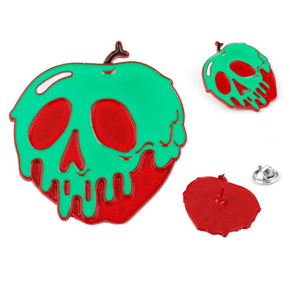 Disney Villains Poison Apple Pin Brooch