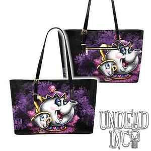 Mrs Potts & Chip Large Pu Leather Handbag / Shoulder Bag