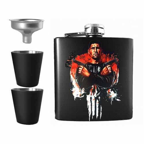 The Punisher Undead Inc Hip Flask Set
